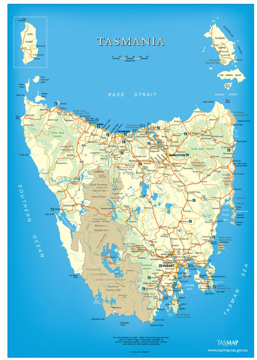 Explor With Autorent Map Of Tasmania Autorent Hertz