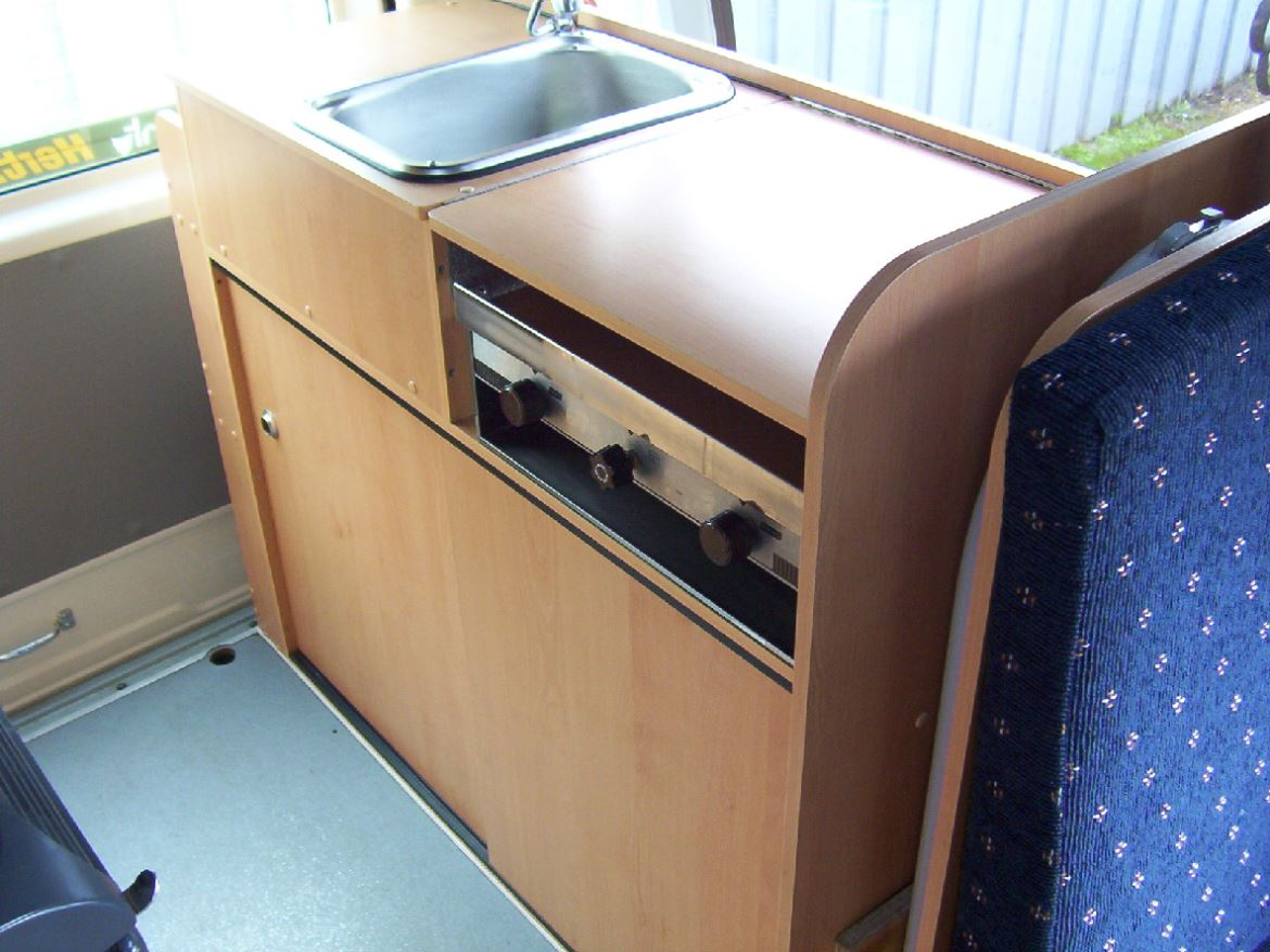 4 Berth  Campervan gas cooker