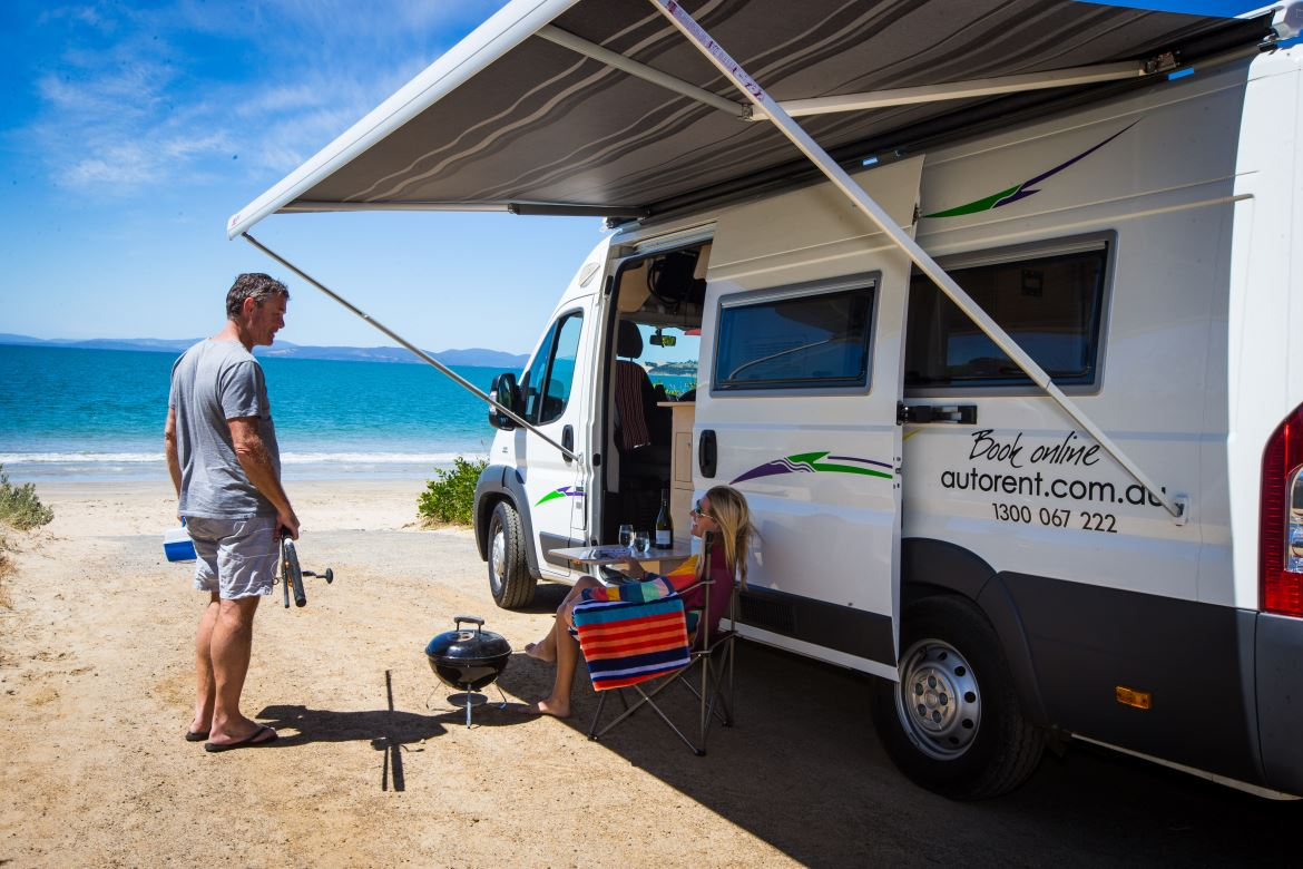 Motorhome at the beach