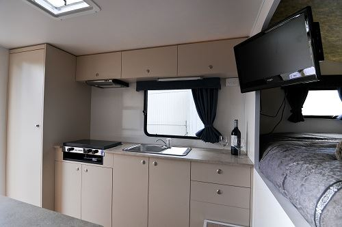 Kitchen in 2 berth motorhome