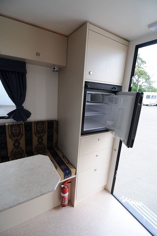 Fridge in 2 berth motorhome