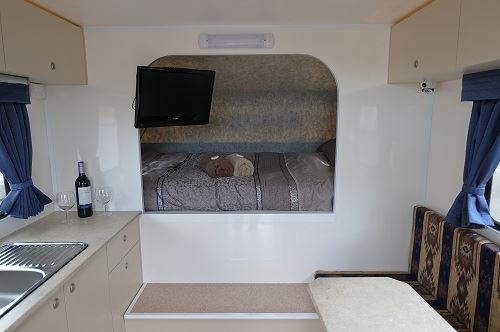 Front bed in 2 berth motorhome
