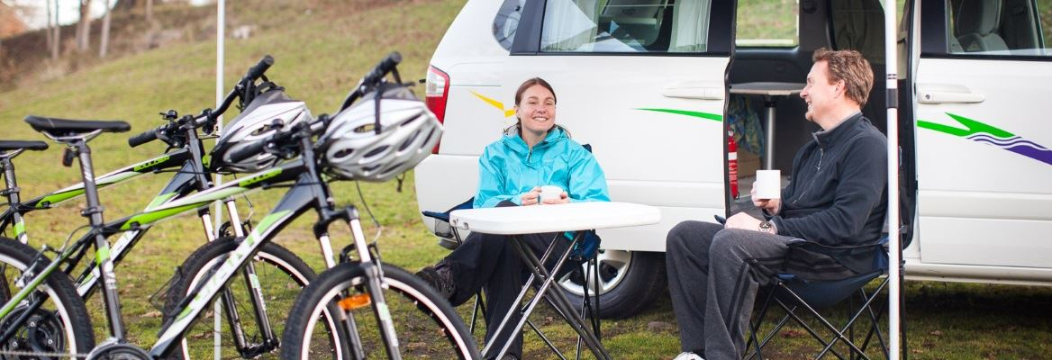 Campervan and bikes from AutoRent Hertz