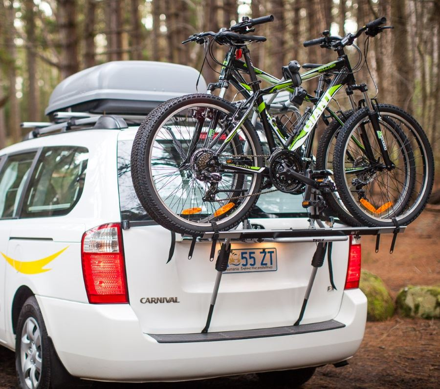 Rental Car with bikes on rack