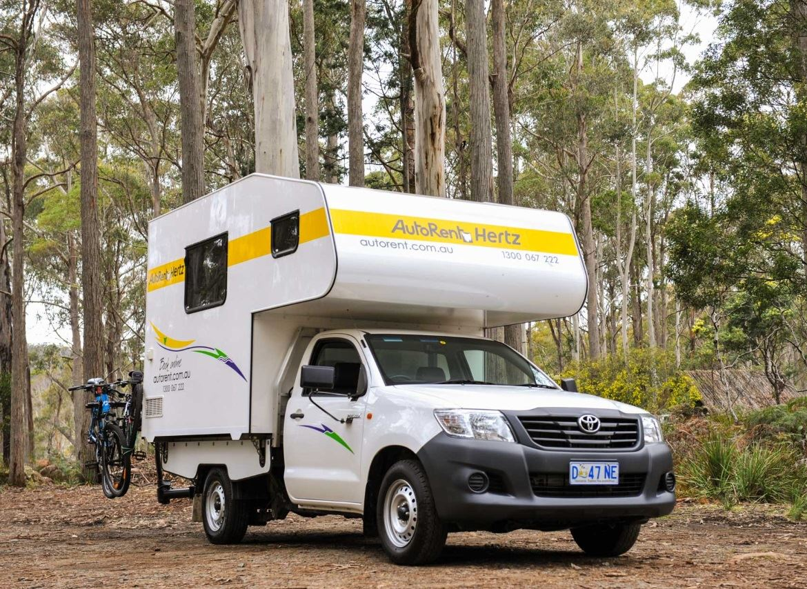 front and side view of 2 berth motorhome